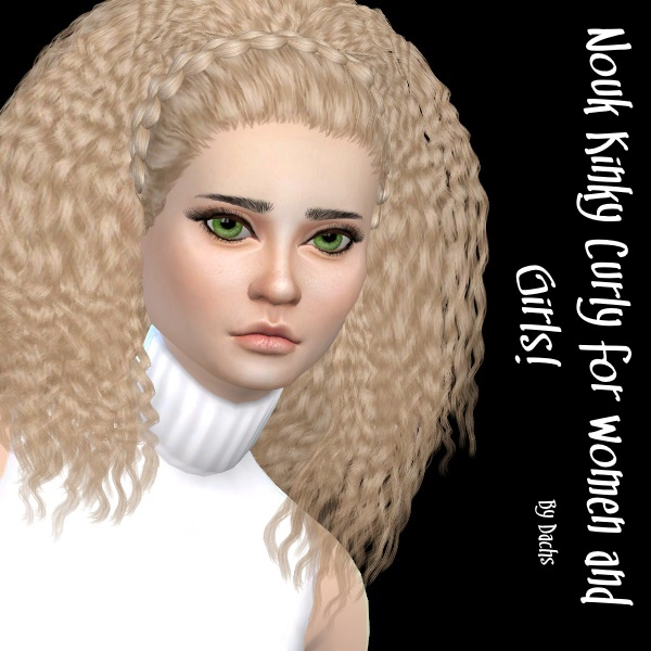 Nouk Kinky Curly hair at Dachs Sims image 1222 Sims 4 Updates