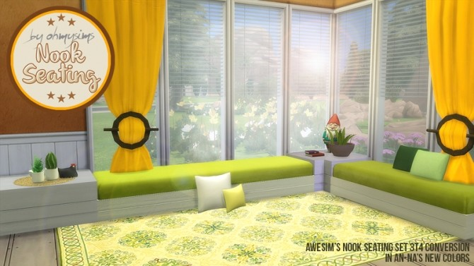 Sims 4 3t4 Nook Seating Set at Oh My Sims 4