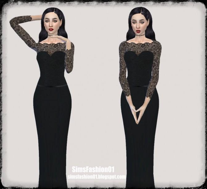 Lace wedding dress at Sims Fashion01 image 1228 670x614 Sims 4 Updates
