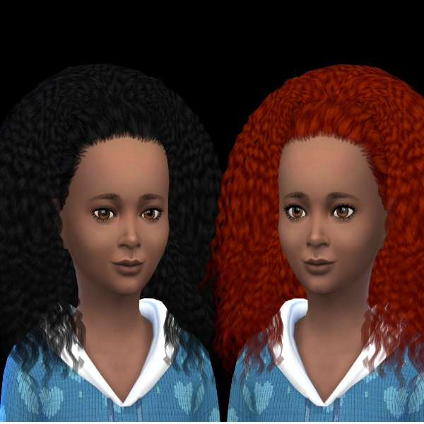 Sims 4 Nouk Kinky Curly hair at Dachs Sims