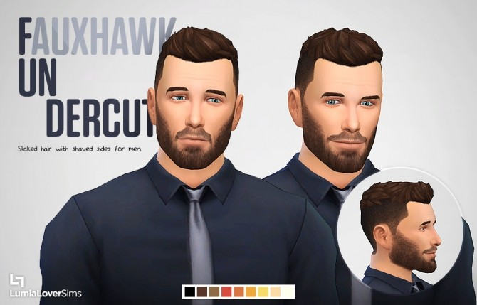 Fundercut shaved + edited version of SlickStuff hair at LumiaLover Sims image 1272 670x429 Sims 4 Updates
