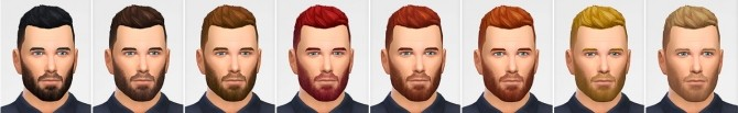 Sims 4 Fundercut shaved + edited version of SlickStuff hair at LumiaLover Sims