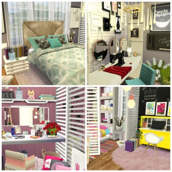 Sims 4 Colored House at Dinha Gamer