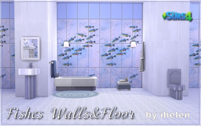 Fishes Walls & Floors at ihelensims image 13123 670x419 Sims 4 Updates