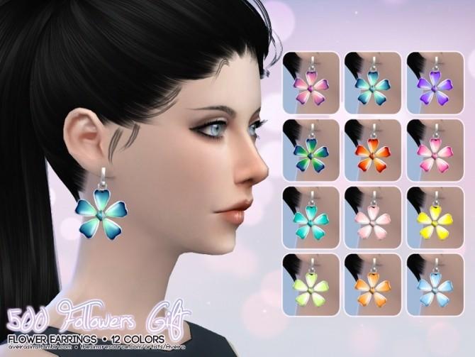 Sims 4 Flower Earrings at Aveira Sims 4