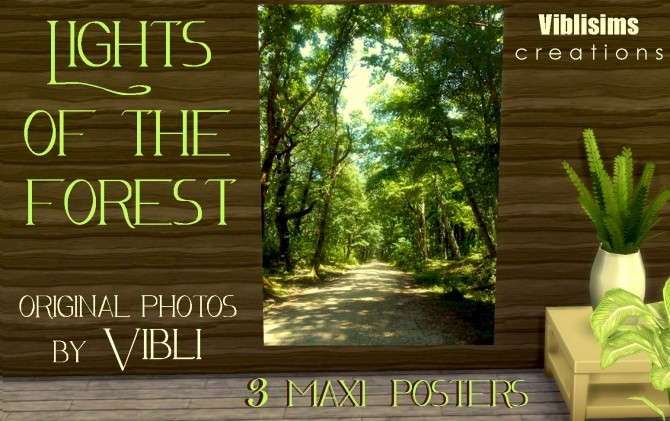 Sims 4 Lights Of The Forest Maxi Posters by ciaolatino38 at Mod The Sims