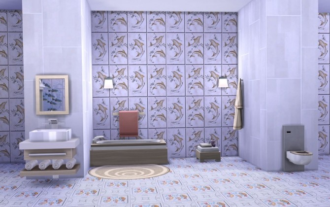 Fishes Walls & Floors at ihelensims image 13218 670x420 Sims 4 Updates