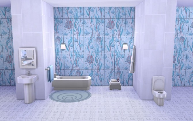 Fishes Walls & Floors at ihelensims image 13317 670x419 Sims 4 Updates