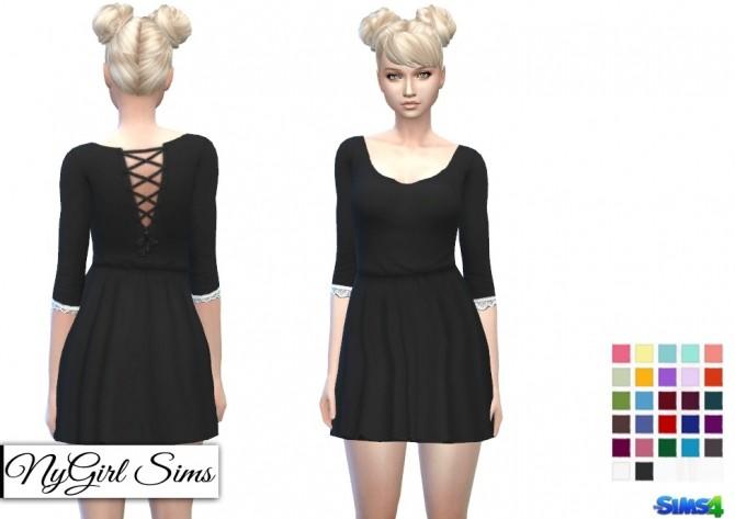 Gathered Corset Back Dress at NyGirl Sims image 134 670x473 Sims 4 Updates