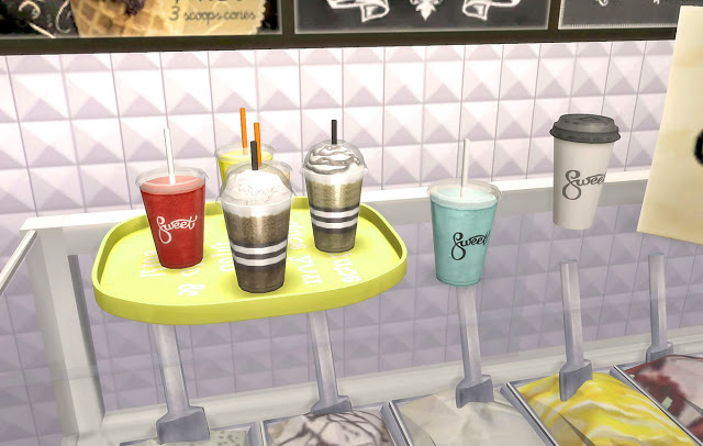 Sims 4 Sweet Ice Cream Set at Ruby's Home Design