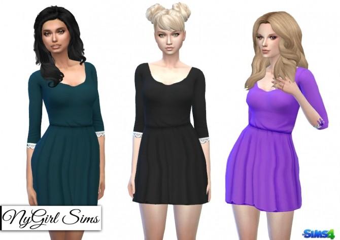 Gathered Corset Back Dress at NyGirl Sims image 135 670x473 Sims 4 Updates