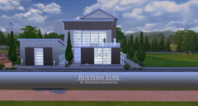 Sims 4 Rustern LUXE house by MrDemeulemeester at Mod The Sims