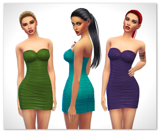 Sims 4 Bella's dress recolors at Maimouth Sims4
