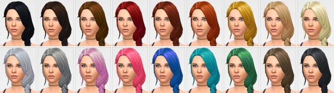 Sims 4 Over the shoulder braid at LumiaLover Sims