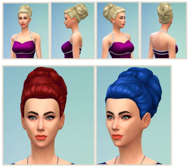 Sims 4 '60s Hair at Birksches Sims Blog