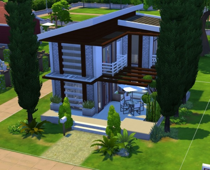 Magnifichic Simple House By Kiroh At Mod The Sims 187 Sims 4