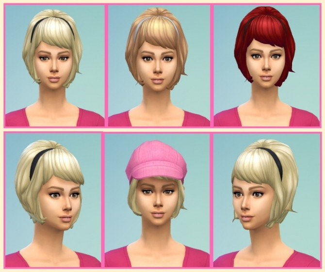 Sims 4 Teased Hair with Band at Birksches Sims Blog