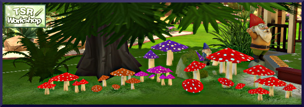Sims 4 Toadstools by Christine1000 at Sims Marktplatz