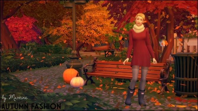 Autumn Fashion At Martine S Simblr 187 Sims 4 Updates