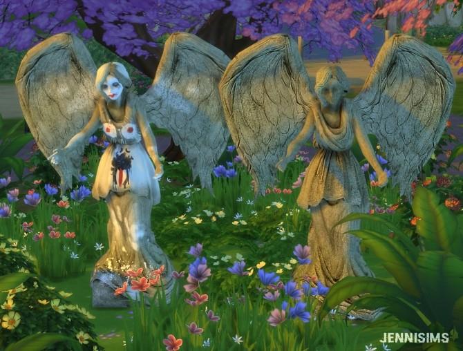 Sims 4 Statues with / without graffiti at Jenni Sims