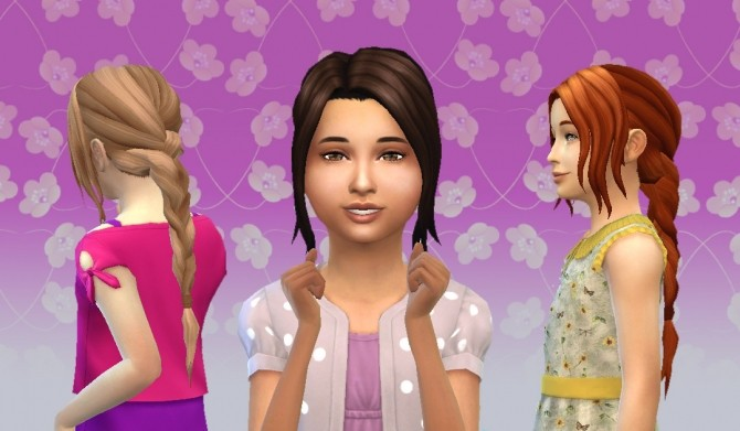Sims 4 Simplicity Hair for Girls at My Stuff