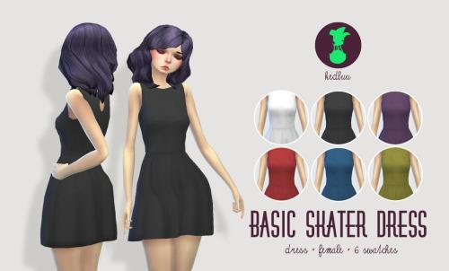 Sims 4 Raincoat, skater dress, stockings and boots at Kedluu