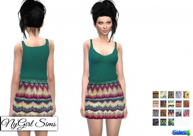 Boho Prints Dress at NyGirl Sims image 1472 670x473 Sims 4 Updates