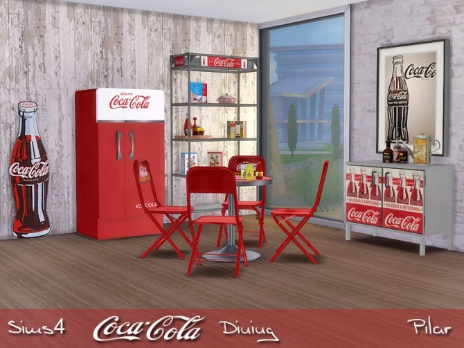 Sims 4 Cocacola Dining by Pilar at SimControl