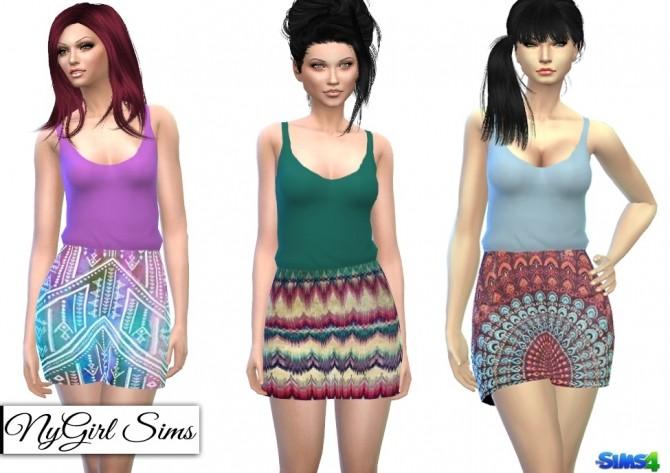 Sims 4 Boho Prints Dress at NyGirl Sims