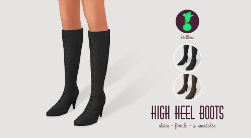 Raincoat, skater dress, stockings and boots at Kedluu image 1484 Sims 4 Updates