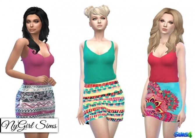 Boho Prints Dress at NyGirl Sims image 1492 670x473 Sims 4 Updates