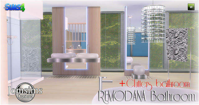 Remodana bathroom clutters at jomsims creations sims 4 updates - The sims 3 case moderne ...