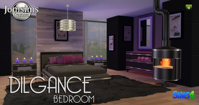 Dilgance bedroom at jomsims creations sims 4 updates for Bedroom designs sims 4