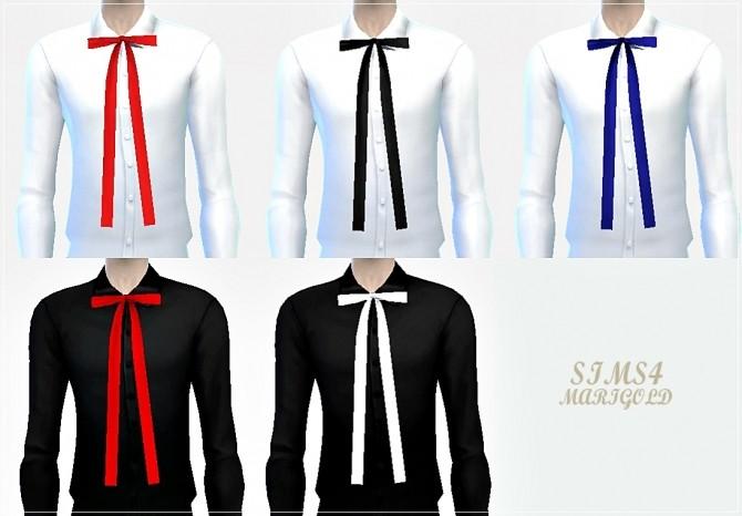 Sims 4 Suspender shorts & ribbon shirts at Marigold