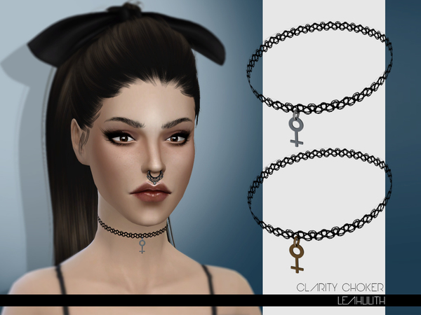 Sims 4 Clarity Choker by Leah Lilith at TSR