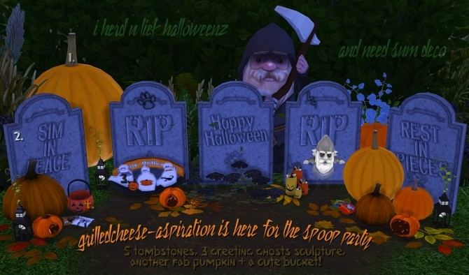 Sims 4 Spoop party objects at Grilled Cheese Aspiration