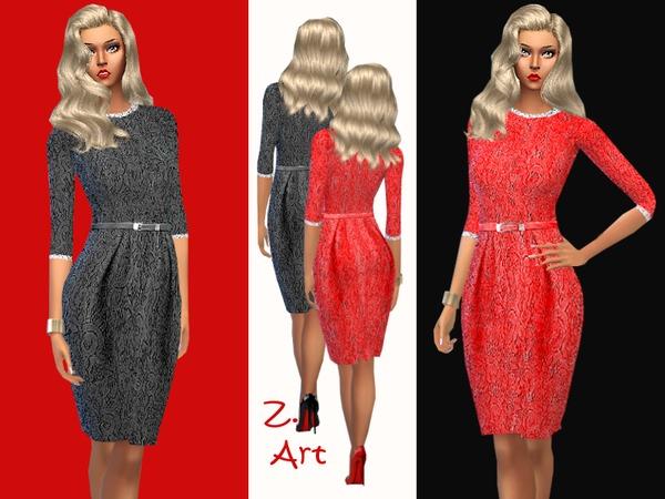 Sims 4 Darling dress by Zuckerschnute20 at TSR