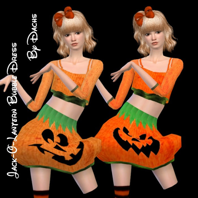 Halloween Set (hair + clothes) at Dachs Sims image 1556 Sims 4 Updates