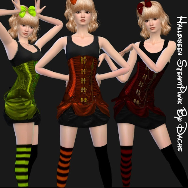 Halloween Set (hair + clothes) at Dachs Sims image 1576 Sims 4 Updates