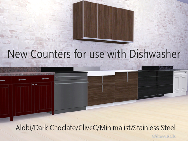 Counters for Dishwasher by ShinoKCR at TSR image 16 Sims 4 Updates