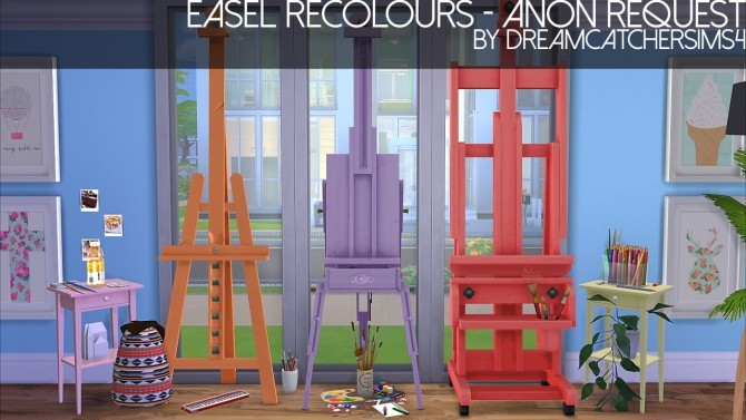 Easel Recolours at DreamCatcherSims4 image 1619 670x377 Sims 4 Updates