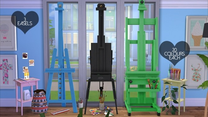 Easel Recolours at DreamCatcherSims4 image 1624 670x377 Sims 4 Updates