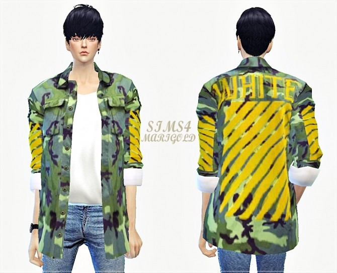 Sims 4 ACC military jacket female at Marigold