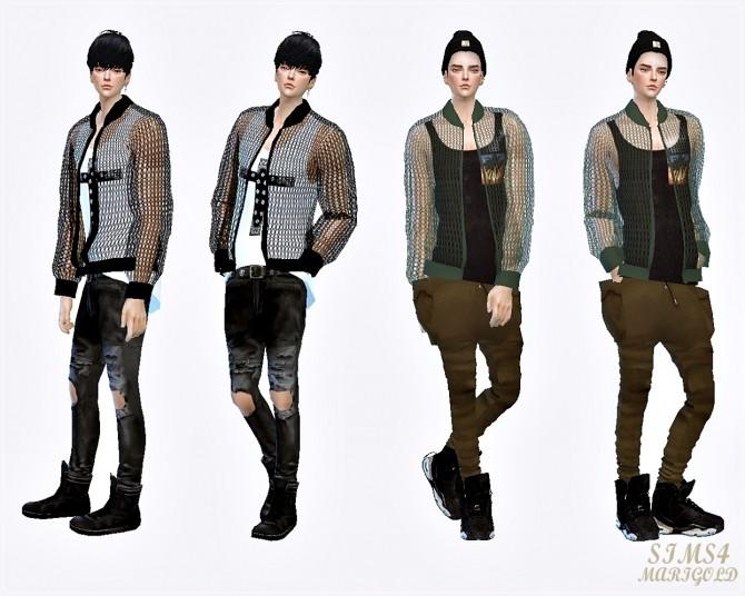 Sims 4 Male mesh jacket at Marigold