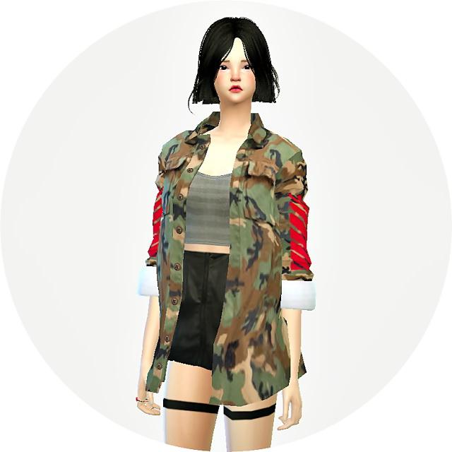 Acc Military Jacket Female At Marigold 187 Sims 4 Updates