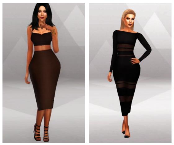 KK Tight Long Dress & MIDI Skirt at Simpliciaty » Sims 4 Updates