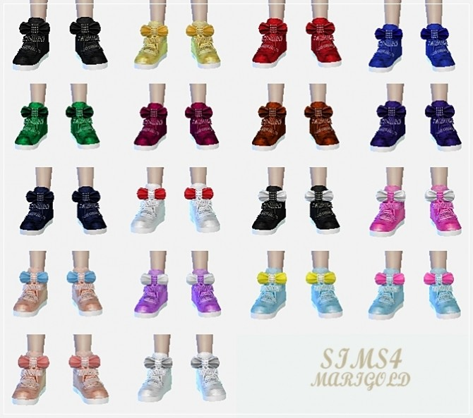 Child bow high top sneakers at Marigold image 1708 670x593 Sims 4 Updates