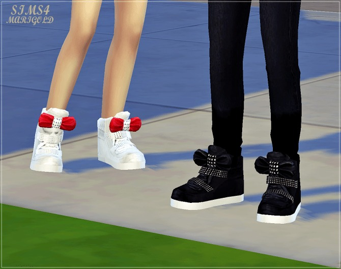 Child bow high top sneakers at Marigold image 172 1 670x529 Sims 4 Updates