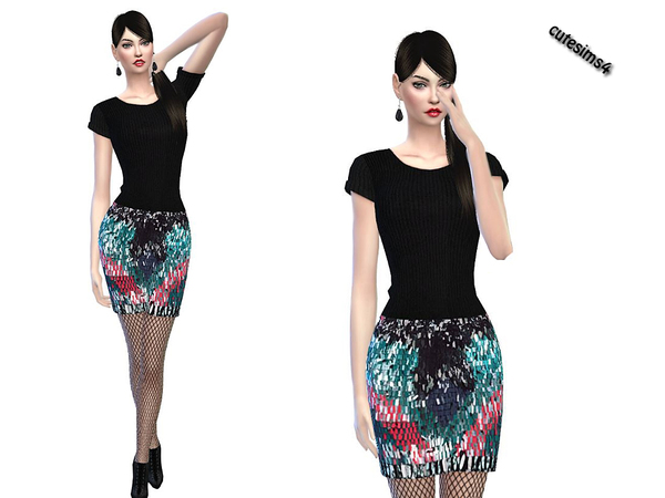 Little Partyoutfit by sweetsims4 at TSR image 1730 Sims 4 Updates