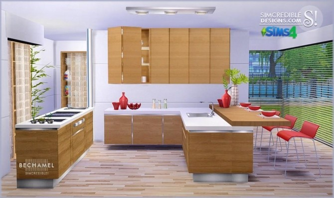 Bechamel kitchen at simcredible designs 4 sims 4 updates for Kitchen ideas sims 4